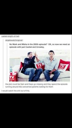 I was disappointed Castiel and Crowley weren't in the episode! This would be a great episode ! Do Supernatural writers! Sammy Supernatural, Castiel, Fandoms, Winchester Boys, Super Natural, Crowley, Bae, Superwholock, Best Shows Ever