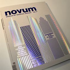 novum & Design Magazin Example of foiling Holographic Print, Holographic Foil, Hologram, Editorial Layout, Editorial Design, Web Design, Layout Design, Magazine Design, Design Poster
