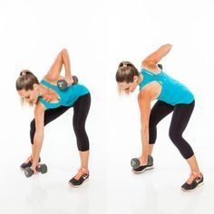 Core Exercises with Weights: Bow and Arrow Squat Pull - Abs Workout Plan: 6 Weight Exercises to Get a Six-Pack - Shape Magazine #weightloss