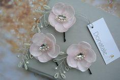 Wedding hair flower Bridal Hair Flower Pin by DonataleFlowers4You
