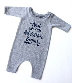 Newborn Take Home Outfit | Newborn Hospital Outfit | Newborn Baby Clothes | And So My Adventure Begins Onesie | Newborn Onesie for Pictures by TheLittleHam on Etsy