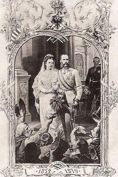 Real couple Franz Josef I and Empress Elisabeth of Austria.