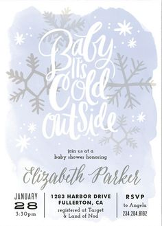 Discover the perfect winter themed baby shower invitation from Minted's selection of unique designs.