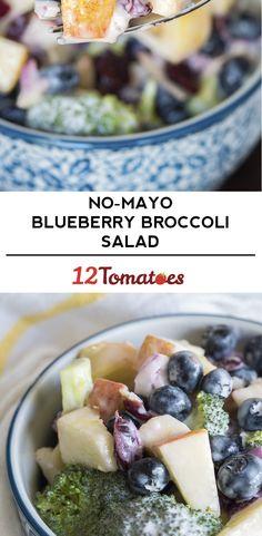 No Mayo Broccoli And Blueberry Salad