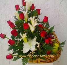 Florería en Cancún  Flores y regalos para toda ocasión. Canastas de flores y frutas. www.floreriazazil.com #floreriasencancun #floreriaencancun #floreriazazil