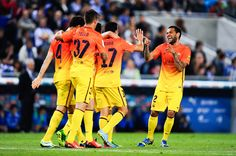 I love barcelonas uniforms Fc Barcelona Players, Rcd Espanyol, My Love, Celebrities, Sports, People, The League, Hs Sports, Celebs
