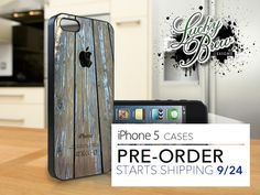 iPhone 5 Hard Case - Old Wood Panels with Logo  - Phone Cover PRE-ORDER. $19.88, via Etsy.