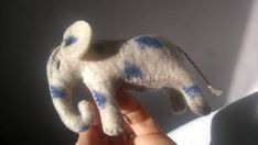 Spotted wool felt elephant wool stuffed animal gift for boys toy for children toy for girls gift for girls eco toys role play natural gift Toys For Girls, Gifts For Girls, Girl Gifts, Toddler Toys, Kids Toys, Waldorf Toys, Pet Gifts, Felt Animals, Felt Crafts