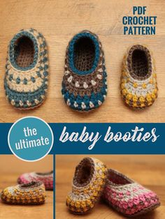 Printable crochet pattern | colorful baby booties | Galilee design | PDF pattern download | DIY baby shoes | crochet project | handmade gift idea for baby shower, new baby | #affiliate