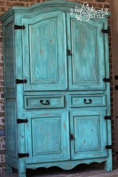 Rustic Armoire Restyled Into Outside Oasis Storage
