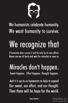 Isaac Asimov on #humanism | @Nicolas Michaud #atheism