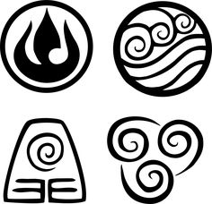 Avatar the Last Airbender nation symbols. Visit my website to order your favorite nation!