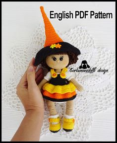 The pattern consists of 24 pages in PDF format Diy Crochet Patterns, Halloween Crochet Patterns, Crochet Doll Pattern, Doll Patterns, Crochet Projects, Diy Projects, Doll Tutorial, Tutorial Crochet, Crochet Fall
