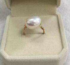 29进店必买2号 天然淡水珍珠戒指 巴洛克珍珠戒指 14k注金线手作-淘宝网