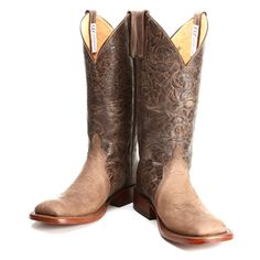 BootDaddy Collection with Anderson Bean Chocolate Tooled Mad Cat Cowgirl Boots|Anderson Bean