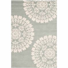 Jayden Hand-Tufted Grey/Ivory Area Rug Safavieh Rug Size: Rectangle 121 x