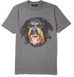 Givenchy Rottweiler-Print Cotton-Jersey T-Shirt
