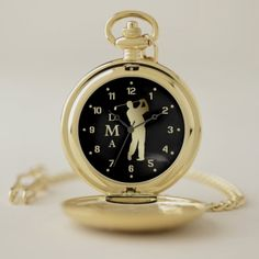 Shop Gold Golfer Triple Monogram Pocket Watch created by Personalize it with photos & text or purchase as is! Personalized Pocket Watch, Personalized Gifts, Armani Watches, Men's Watches, Watches Online, Make A Gift, Luxury Watches For Men, Gold Watch, Gifts For Him