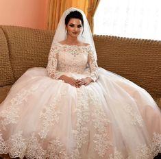 Rochie de mireasa stil printesa, cu maneci din dantela si trena Lace Wedding, Wedding Dresses, Women, Fashion, Bride Dresses, Moda, Bridal Gowns, Alon Livne Wedding Dresses, Women's