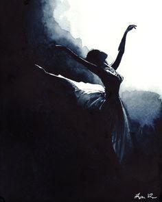 Prima Ballerina Swan Lake Ballet Dancer  Estampe par LauraRowStudio