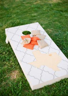 Fun reception games! Photo by Taylor Lord Photography. #wedding #cornhole #texas