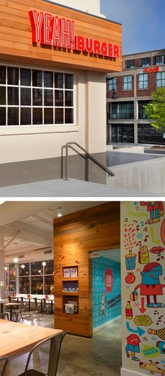 Tad Carpenter's new brand­ing for Yeah! Burger is just plain fun. The Atlanta-based (and expand­ing) chain wanted a fresh approach to reflect their com­mit­ment to local and organic food, and that was cer­tainly achieved with this play­ful, col­or­ful and inter­ac­tive brand. Here's hop­ing that they work their way up the East Coast as they expand! In the mean­time, you can check out lots more images to see on Tad's Flickr.