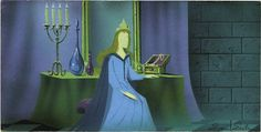 "Animation Art:Production Drawing, Eyvind Earle - ""Sleeping Beauty"" Animation Concept PaintingOriginal Art (Disney, 1959). ..."
