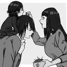 Image shared by Aggelikh Lada. Find images and videos about family, naruto and sasuke uchiha on We Heart It - the app to get lost in what you love. Naruto And Sasuke, Naruto Gaiden, Naruto Shippuden Anime, Hinata Hyuga, Naruto Art, Anime Naruto, Boruto, Naruto Family, Naruto Couples