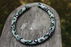 The 70-year trend beaded crochet rope necklace handmade by Daidija