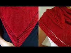 Cómo Tejer CHAL DE LUJO - Knitting a Shawl 2 Agujas (376) - YouTube