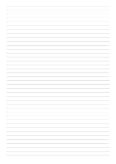 Lined Paper Template - College Ruled