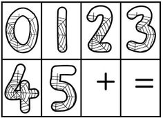 Classroom Freebies: Spider Web Numbers Set!