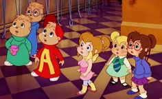 When I become a parent, my kids will absolutely grow up with Alvin and the Chipmunks and The Chipettes! Best 90s Cartoons, Old Cartoons, Classic Cartoons, Retro Cartoons, Chipmunks Movie, Alvin And The Chipmunks, Las Chipettes, Game Design, Cartoon Costumes