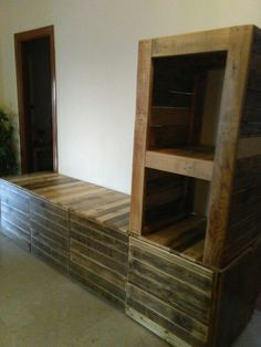 Mueble T.V , palet 100 % Pallet Furniture, Bookcase, Shelves, Home Decor, Rustic Furniture, Window Boxes, Courtyards, Yurts, Cordoba