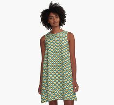 Yellow Coffee Cup pattern dress by Mark Hennick