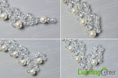 Looking for bead necklace designs? What about this crystal glass bead necklace? Just check the detailed tutorial below to see how to make this crystal glass bead necklace. Bead Jewellery, Crystal Jewelry, Crystal Necklace, Beaded Jewelry, Bead Necklaces, Handmade Pearl Jewelry, How To Make Crystals, Necklace Tutorial, Necklace Designs