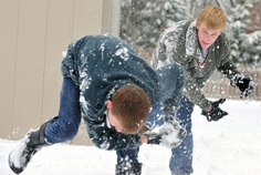 Have A Huge Snowball Fight