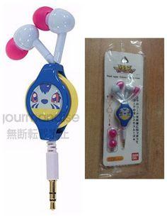 Gourmandise Digimon Adventure 3.5mm Reel-style Stereo Earphones Gabumon #Bandai