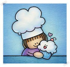 Adventures in Amanda-land: Cupcake Meets his Baker Brownie Shop, Cake Online, Cute Cupcakes, Amanda, Hello Kitty, This Is Us, Bakery, Adventure, Illustration