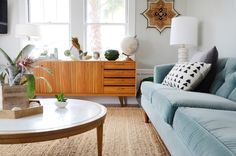 """A """"Happy Californian Golden Girls Greenhouse"""" Apartment in San Francisco — House Tour (Apartment Therapy Main) My Living Room, Home And Living, Living Room Decor, Living Spaces, Modern Living, Greenhouse Apartments, Interior Exterior, Interior Design, Furniture Arrangement"""