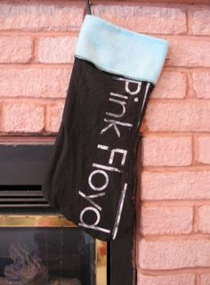 Pink Floyd Christmas Stocking DIY Upcycled by DarkStormClothing, $30.00
