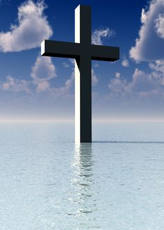 Cross in water Christian Artwork, Christian Images, Christian Wallpaper, Sign Of The Cross, The Cross Of Christ, Hand Painted Crosses, Cross Wallpaper, Cross Pictures, Old Rugged Cross