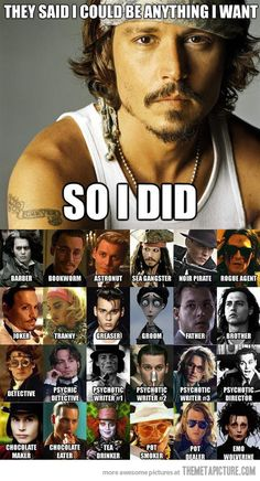 Gotta love Johnny Depp and that Edward Scissorhands is an emo wolverine