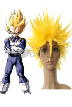 40cm Yellow Dragon Ball Vegeta Super Saiyan Nylon Cosplay Wig