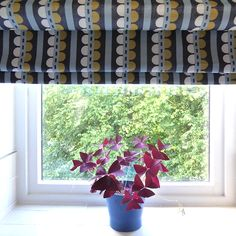 Transform your Kitchen with Patterned Roman Blinds. Made to measure at www.makeablind.co.uk