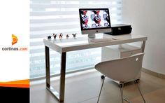 ¡Tu espacio de trabajo iluminado y confortable! #ViewLovers #SheerElegance