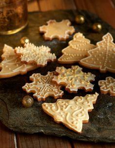 Galletas Blanca Navidad #RecetasNavideñas #Navidad #Galletas #AzucareraGlaceSeda #DecoracionGlasa #ArbolNavidad