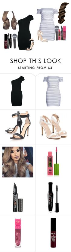 """Ava Jessica and Hana Liu Covering Wicked's ""Defying Gravity"""" by shestheman01 ❤ liked on Polyvore featuring Boohoo, WithChic, Gianvito Rossi, Maybelline, Benefit, Bourjois, Jeffree Star and NYX"