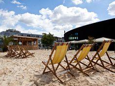 Camden Beach | Roundhouse, until end of August. Tikki bar! 150 tonnes of sand!