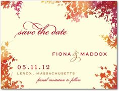 Save the Date Postcards Dappled Glade - Front : Spring Green